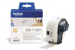 Brother DK-11201 QL-500 / QL-550 / QL-570 / QL-570VM / QL-580N / QL-650TD / QL-710W / QL-720NW / QL-1050 / QL-1050N / QL-1060N Standard address labels(29mm x 90mm) Стандартные адресные наклейки (DK11201)