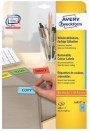 Avery Zweckform PACK L6033-20 Printable Labels with Removable Adhesive Зеленые прямоугольные этикетки 63.5 x 33.9 мм, 24 этикетки на листе